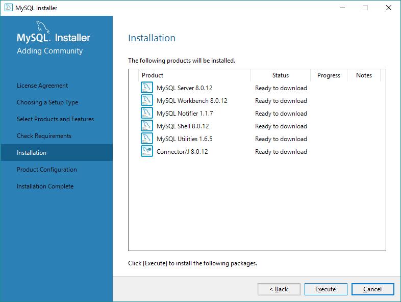 Executar a instalação do MySQL