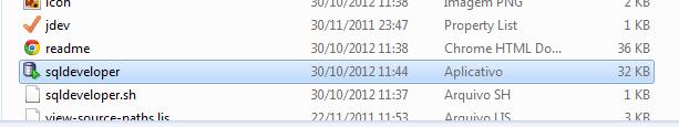 executando o SQL Developer