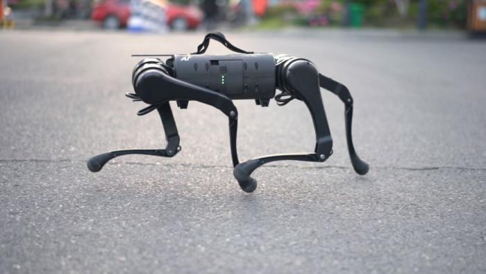 """""""Robô-cão"""" medonho acompanha o dono durante caminhadas e está à venda"""