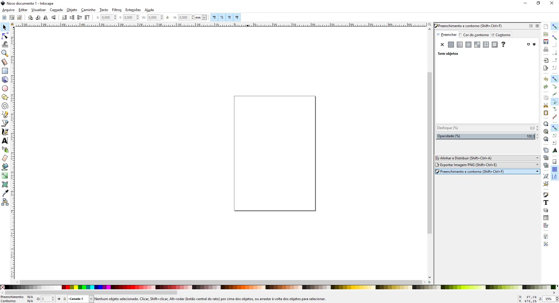 Interface do Inkscape