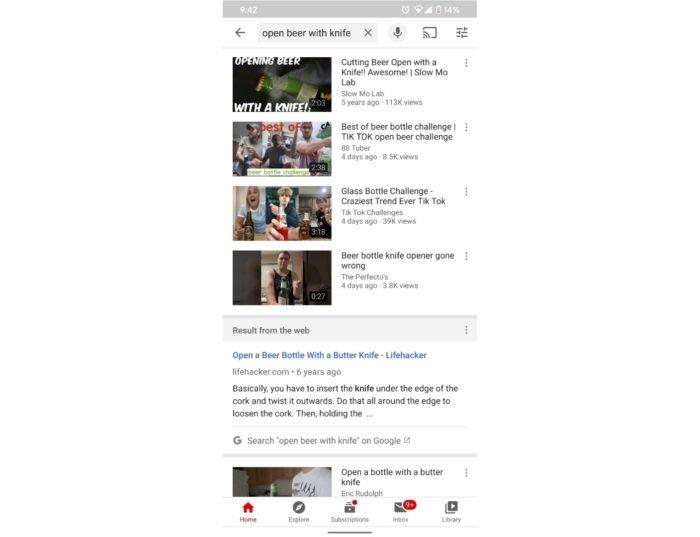 YouTube testa integrar resultados de busca do Google na web (Foto: Reprodução/TheMrIggs/Reddit)